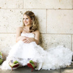 Oh no she Didn't!: Colored Shoes under the Wedding gown