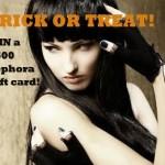 Halloween Beauty Blogger Giveaway: $500 Sephora Gift Certificate