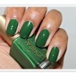 "Loreal's Nail Colour in ""Hyde Park""  is a Must Have Green For Fall!"