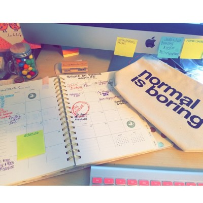 Planning out all my goals for April! I don't do…