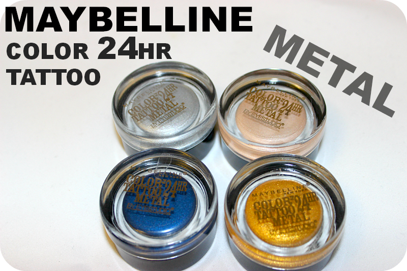 Maybelline 24hr Color Tattoo Metal Swatches and Review