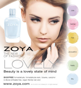 Zoya Lovely Collection Spring 2013 x Press Release