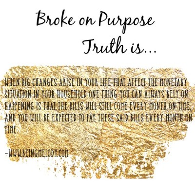 Truth is.. #brokeonpurpose #financialfreedom #finances #debtdiet #deletethedebt #totalmoneymakeover
