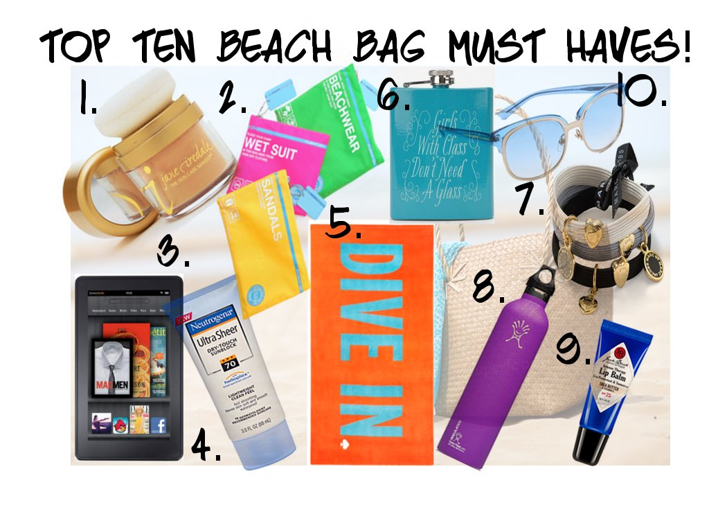 Top Ten Must have Items for the Beach