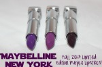 Maybelline Limited Edition Fall 2013 Purple Lipsticks