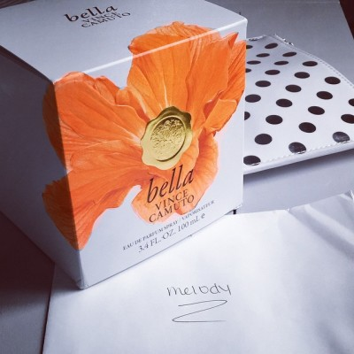 This special delivery of Bella, the Newest fragrance from @vincecamuto…