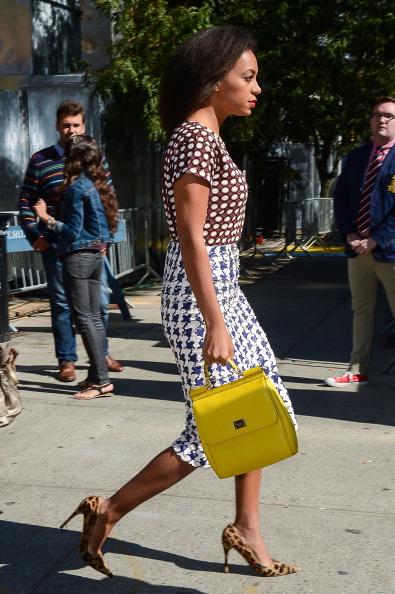 Yellow Handbag, Solange