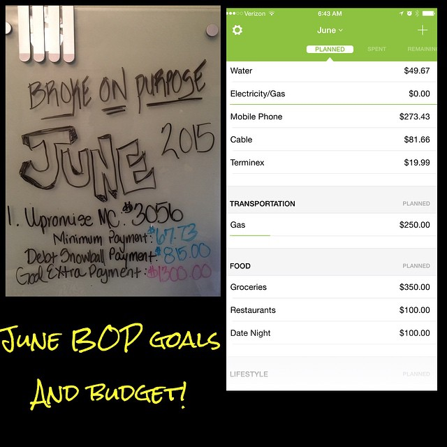 May 2015 Debt Payoff Report | Broke on Purpose| www.livebrokeonpurpose.com
