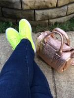 Neon green  superga shoes
