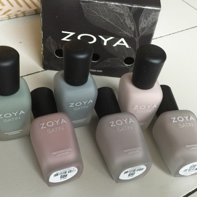 These new @zoyanailpolish Satins belong in my life. The colors…