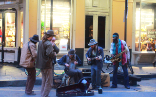 Jazz Band in Street