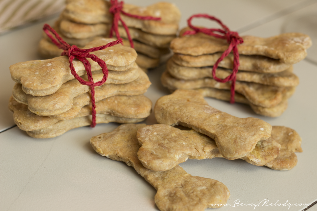 Homemade Dog Treats, Dog Biscuits, Peanut Butter and Chicken Dog Biscuits