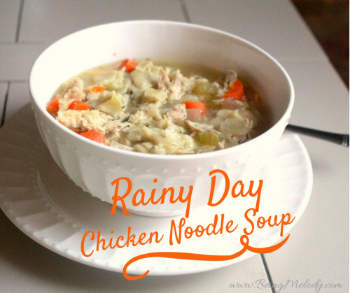 Rainy Day Chicken Noodle Soup