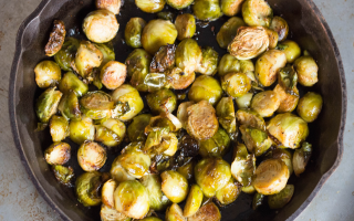 Roasted Brussel Sprouts in Chili OIl