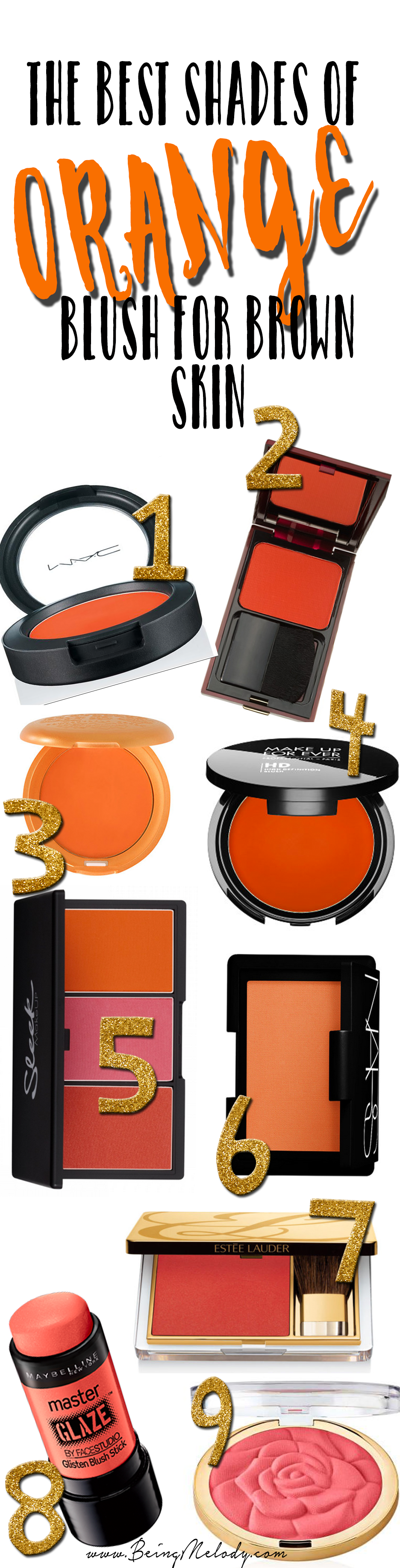 The Best Shades of Orange Blush for Brown Skin - www.beingmelody.com