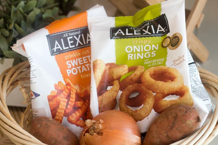 Alexia Onion Rings and Alexia Sweet Potato Fries with Sea Salt