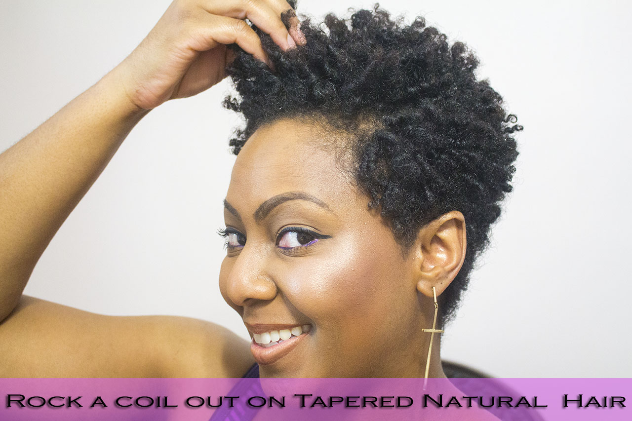 Styling Tapered Natural Hair How To Finger Coil And Rock A Coil Out With A Tapered Cut  Www .