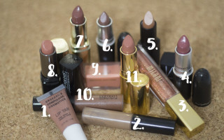 Nude Lipsticks Numbered