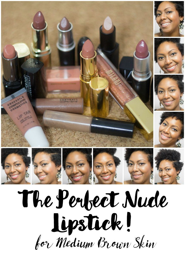 The Perfect Nude Lipstick for Medium Brown Skin