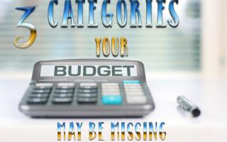 Budget, Budget Categories, Finances, Broke on Purpose