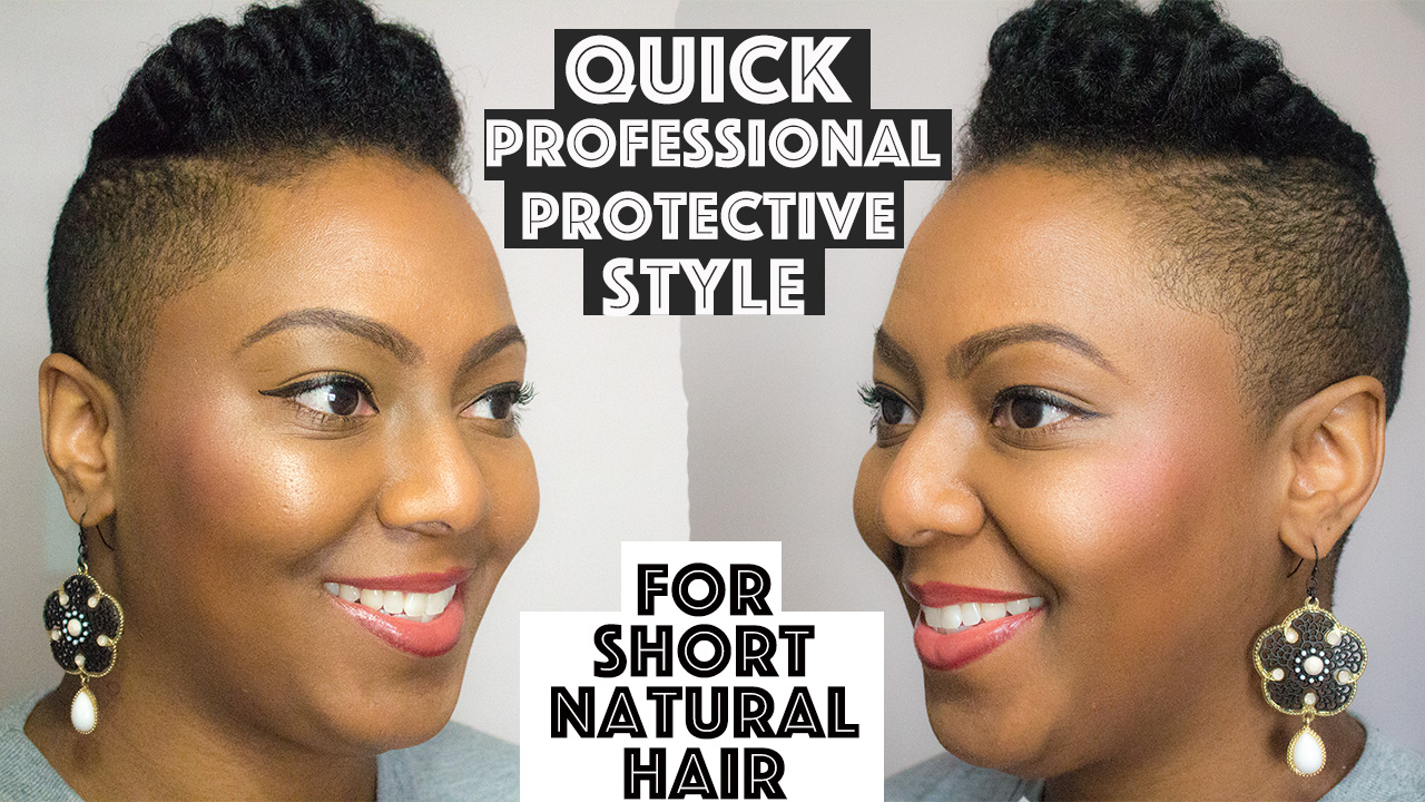 Tiara Hairstyle on Short or Tapered Natural Hair - www ...