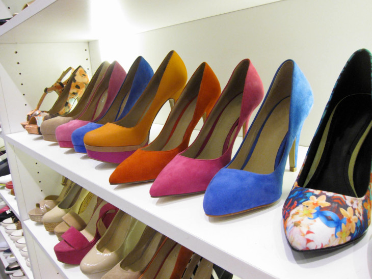 Shoes on Display in a closet