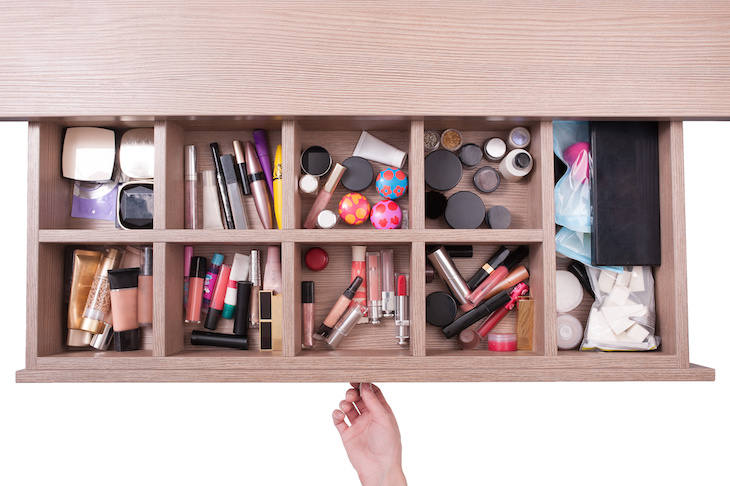 How to declutter your makeup stash.