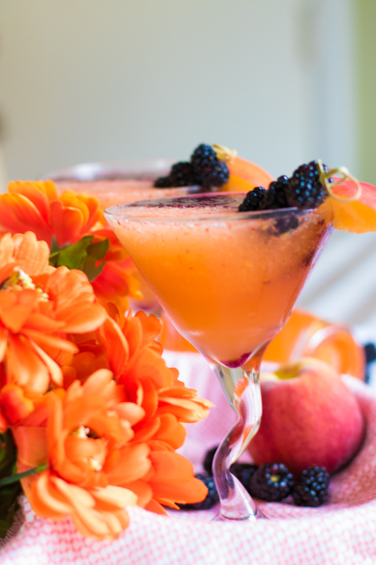 Peach Berry Refresher made with Alize Peach French Vodka #alizeincolor www.beingmelody.com