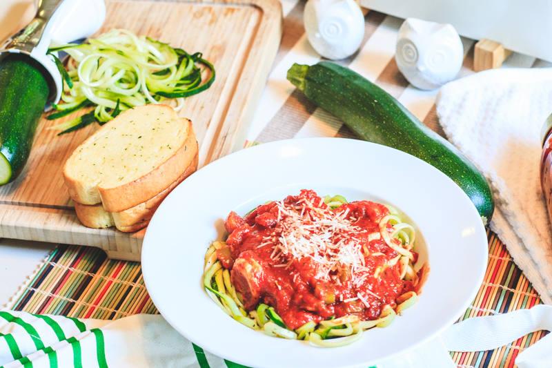 Shrimp and Zucchini Vegetti