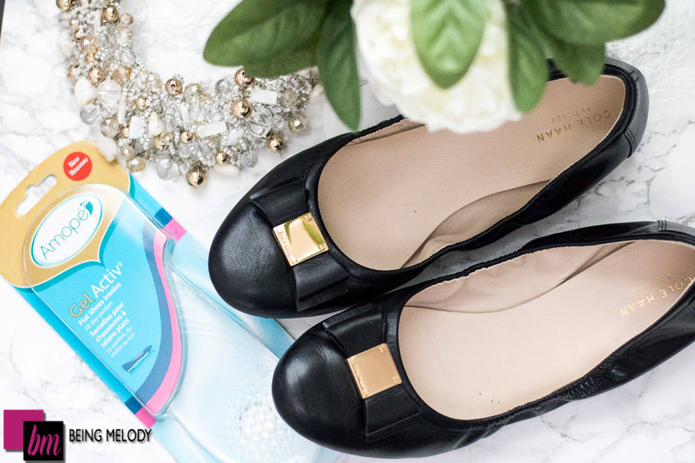 Amope Gel Activ Insoles for flat shoes are great for days when you have to walk all day. | BeingMelody.com