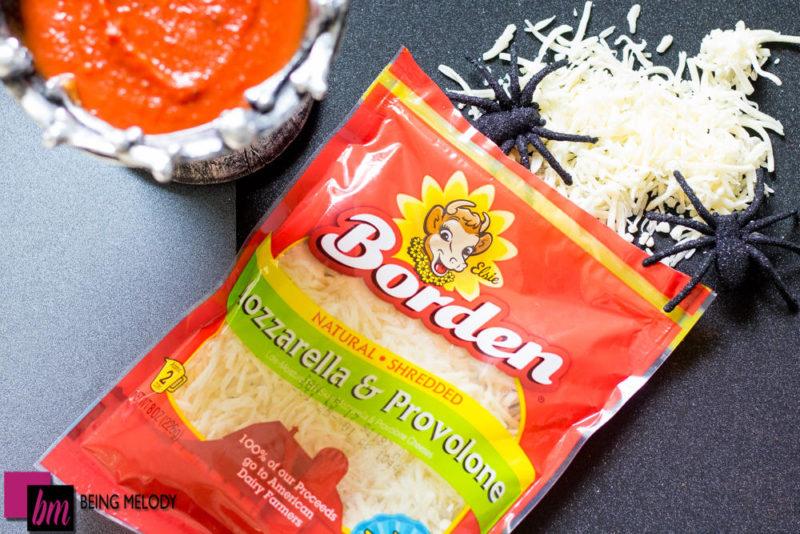 Halloween Cheesy Brain Bread with Borden Cheese