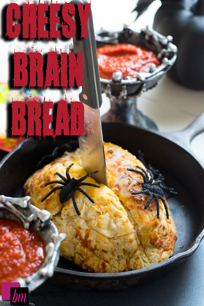 Halloween Cheesy Brain Bread is Perfect for your Next Fright Night!
