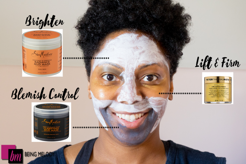 Multimasking with Shea Moisture Mud Mask www.beingmelody.com