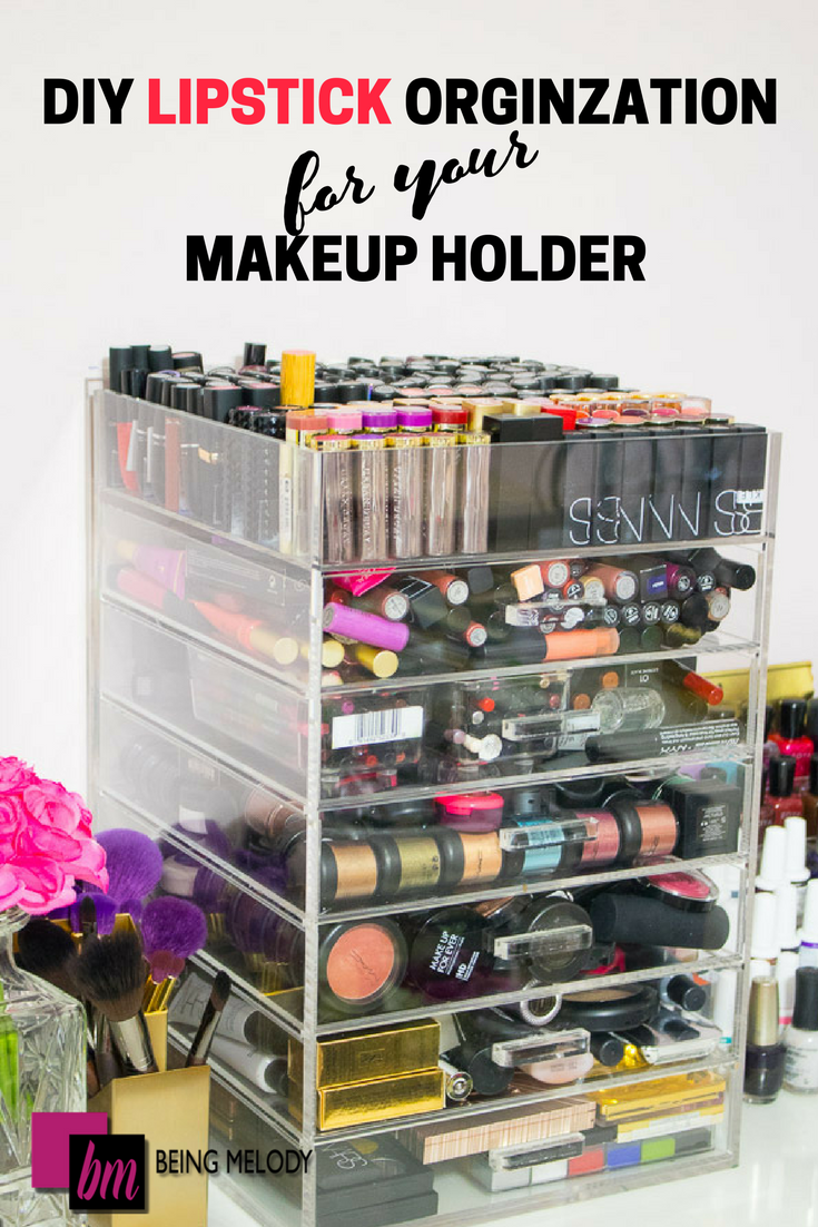 Easy DIY Lipstick Organization for Your Makeup Holder