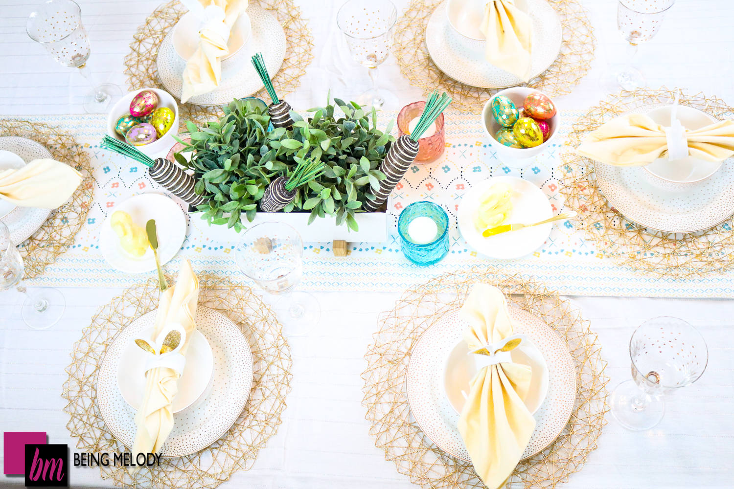 Create the Perfect Easter Tablescape with Keller's Creamery Butter Bunnies + Recipe Bonus!