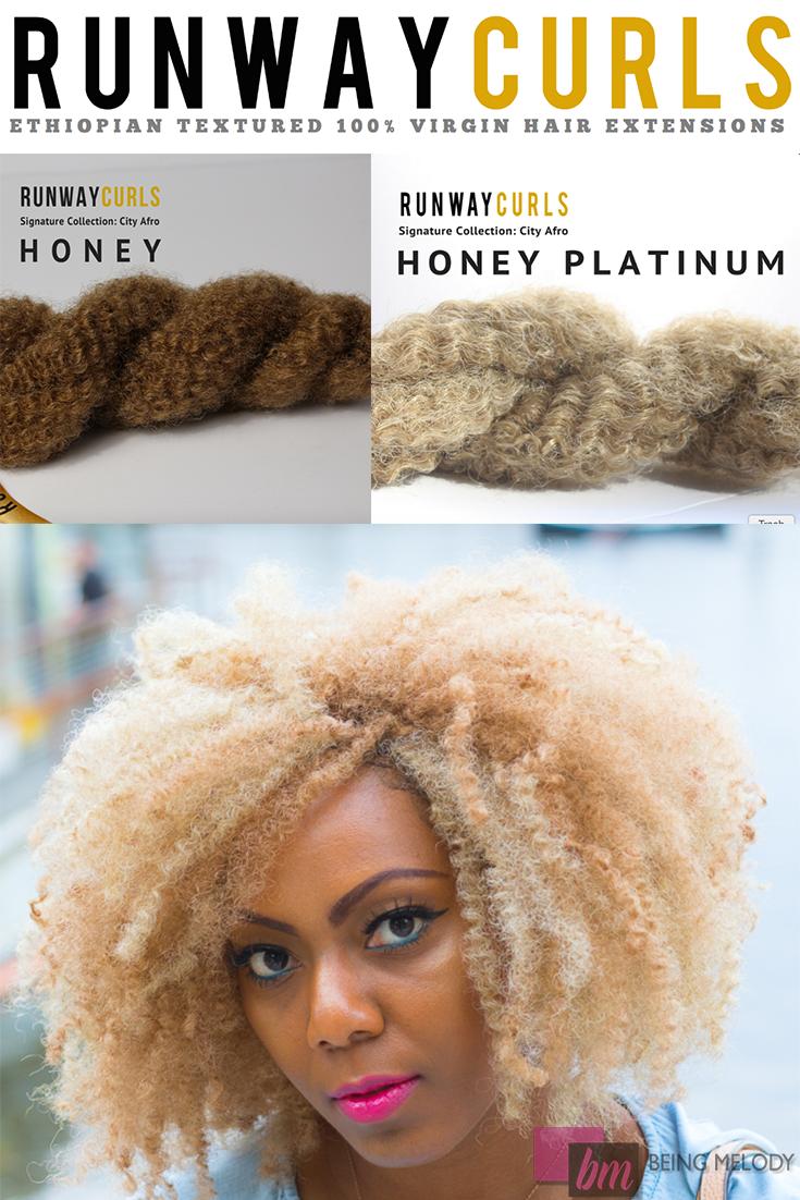 Get the Look with five bundles of Runway Curls City Bulk Hair in Honey and Honey Platinum #runwaycurls #runwaycurlsblogger