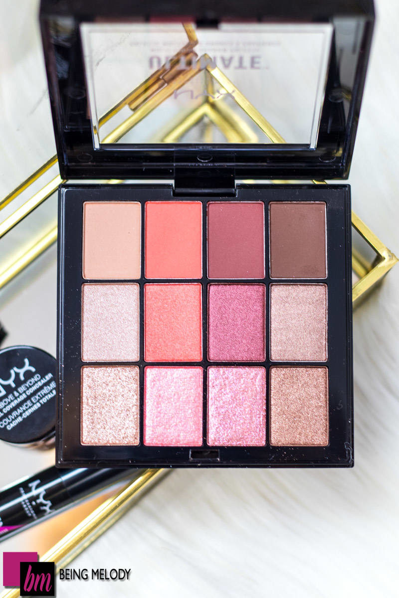 Photo of NYX Cosmetics Ultimate Multi Finish Shadow Palette www.beingmelody.com