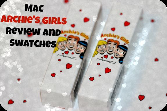 MAC Archie's Girls Lipstick Swatches