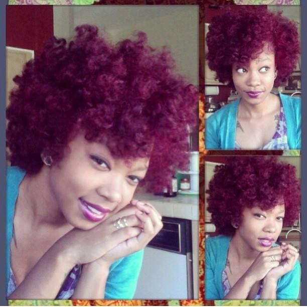 Colored Natural Hair - www.beingmelody.com