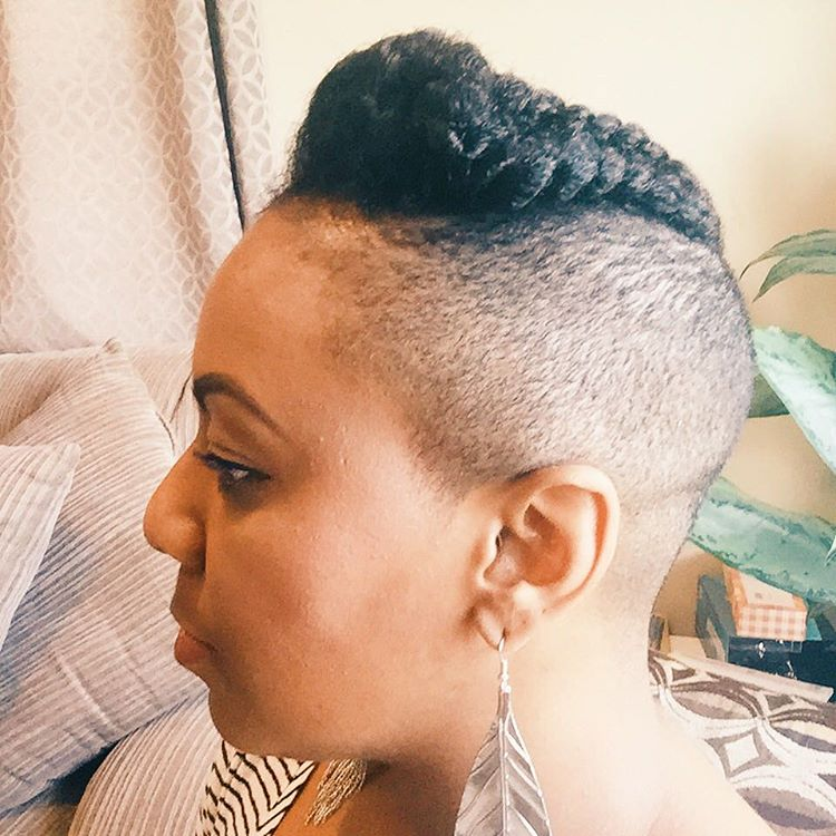 Undercut Natural HairStyle