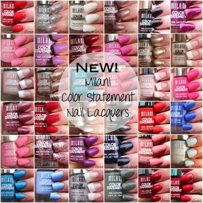 Milani Color Statement Nail Lacquers Swatches
