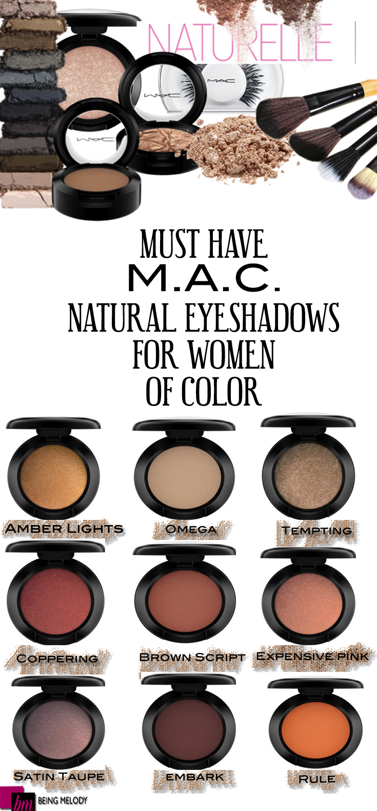 Nine Must Have MAC Cosmetics Neutral Eyeshadows For Women