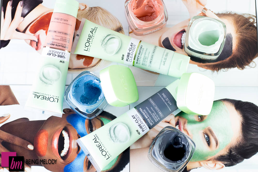 Loreal Pure Clay Cleansers and New Pure Clay Mask